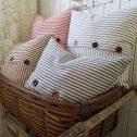 Farmhouse Decor with Ticking Pillows by Prodigal Pieces | prodigalpieces.com
