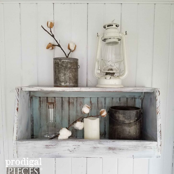 Farmhouse Wall Bin from Repurposed Headboard by Prodigal Pieces | prodigalpieces.com