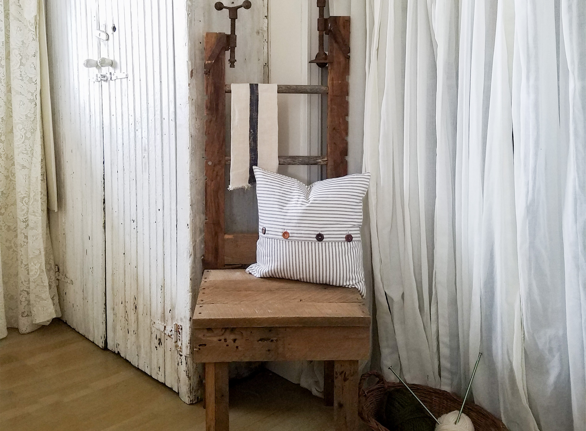 Featured Antique Clamp Chair by Prodigal Pieces | prodigalpieces.com