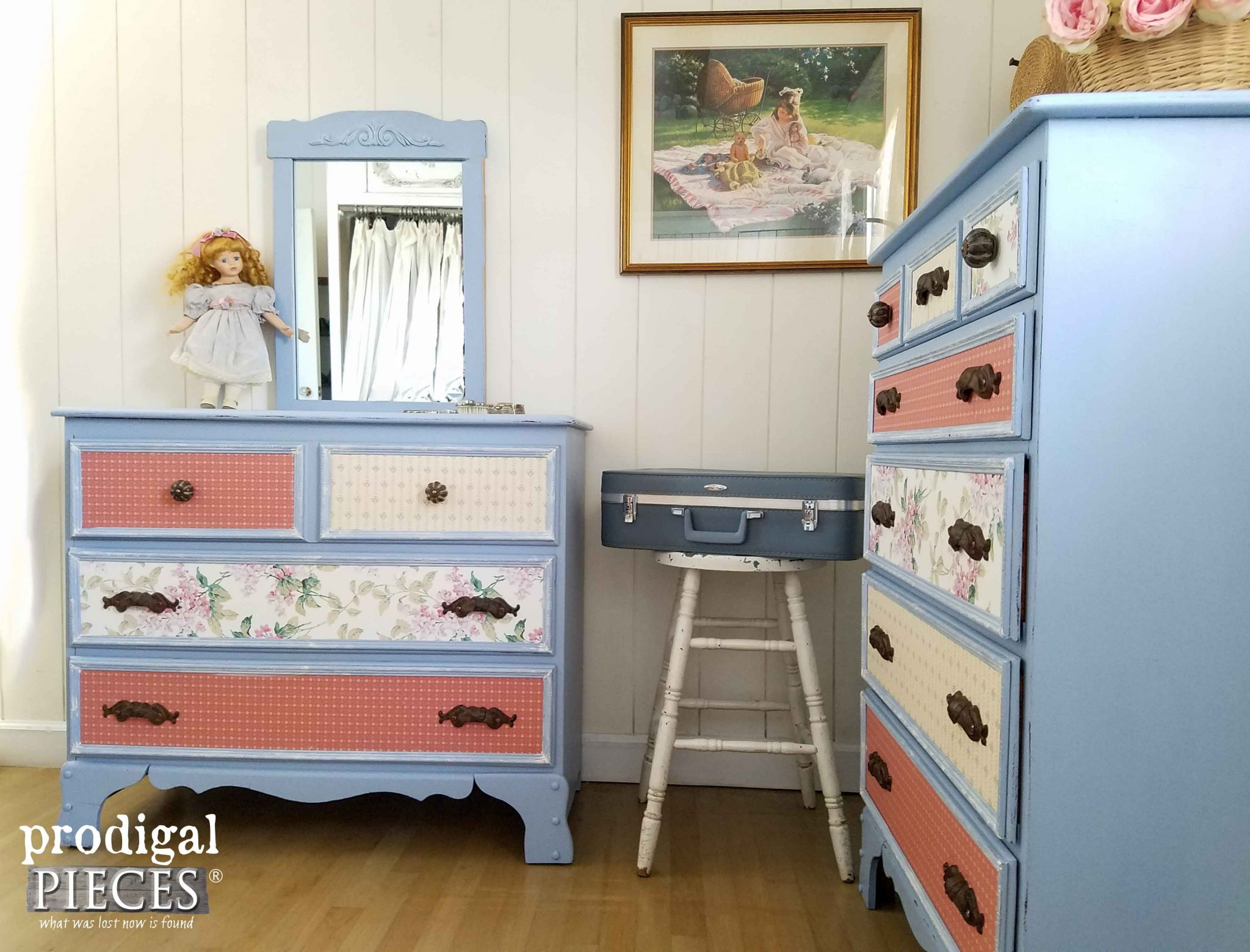 Cottage Chic Style Girl's Bedroom Set by Prodigal Pieces | prodigalpieces.com