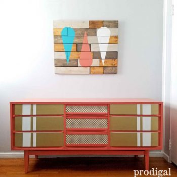 Mid Century Dresser Made New with Modern Chic Styling by Prodigal Pieces | prodigalpieces.com