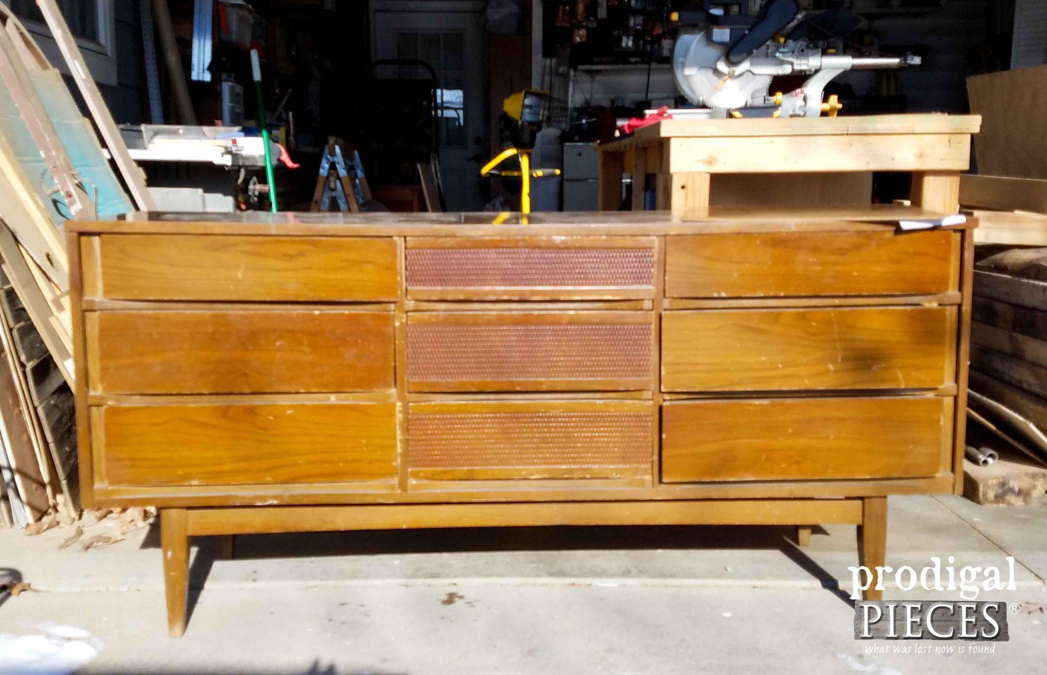 Mid century modern dresser found at thrift store by prodigal pieces prodigalpieces com
