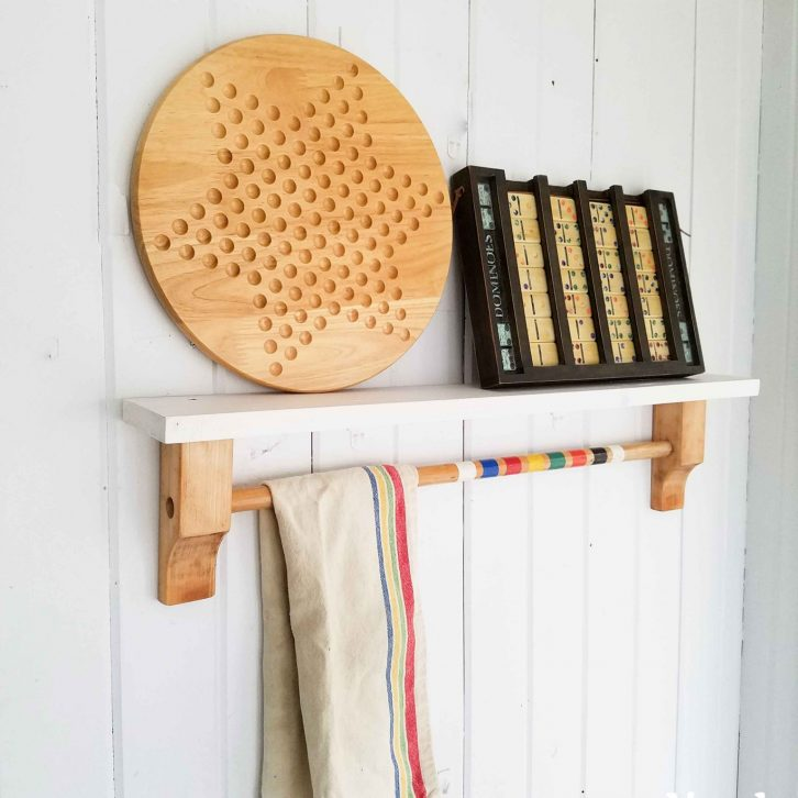 Upcycled Shelf Towel Bar Available at Prodigal Pieces | prodigalpieces.com