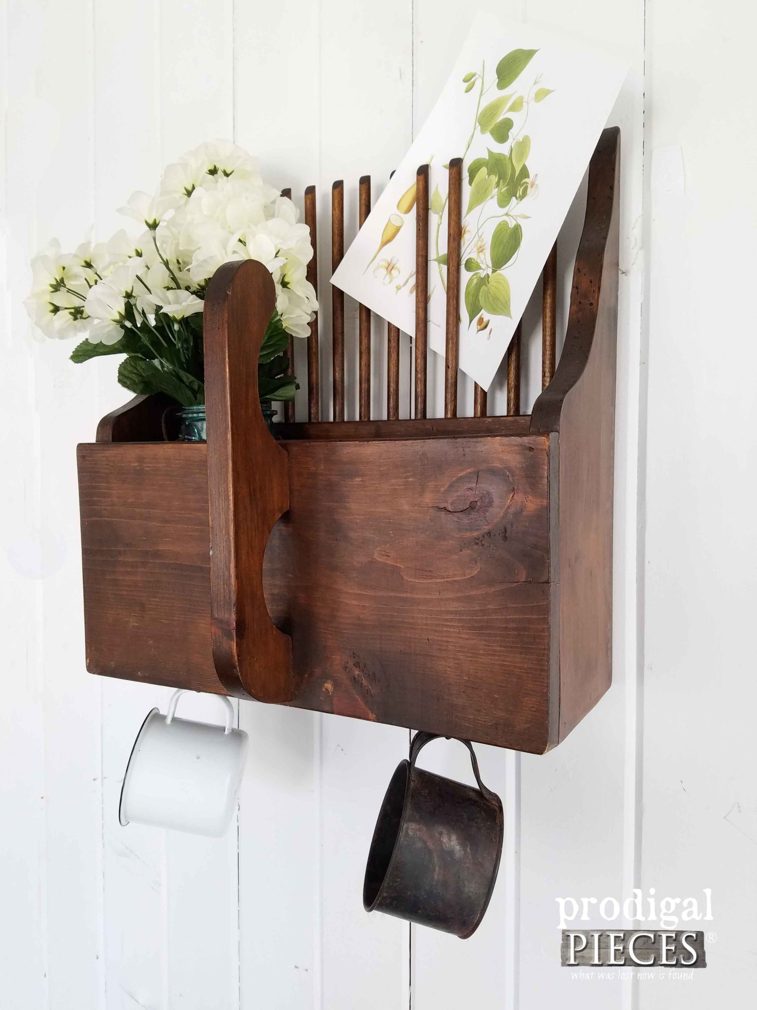 Repurposed Apple Picker Turned Wall Pocket Decor by Prodigal Pieces | prodigalpieces.com