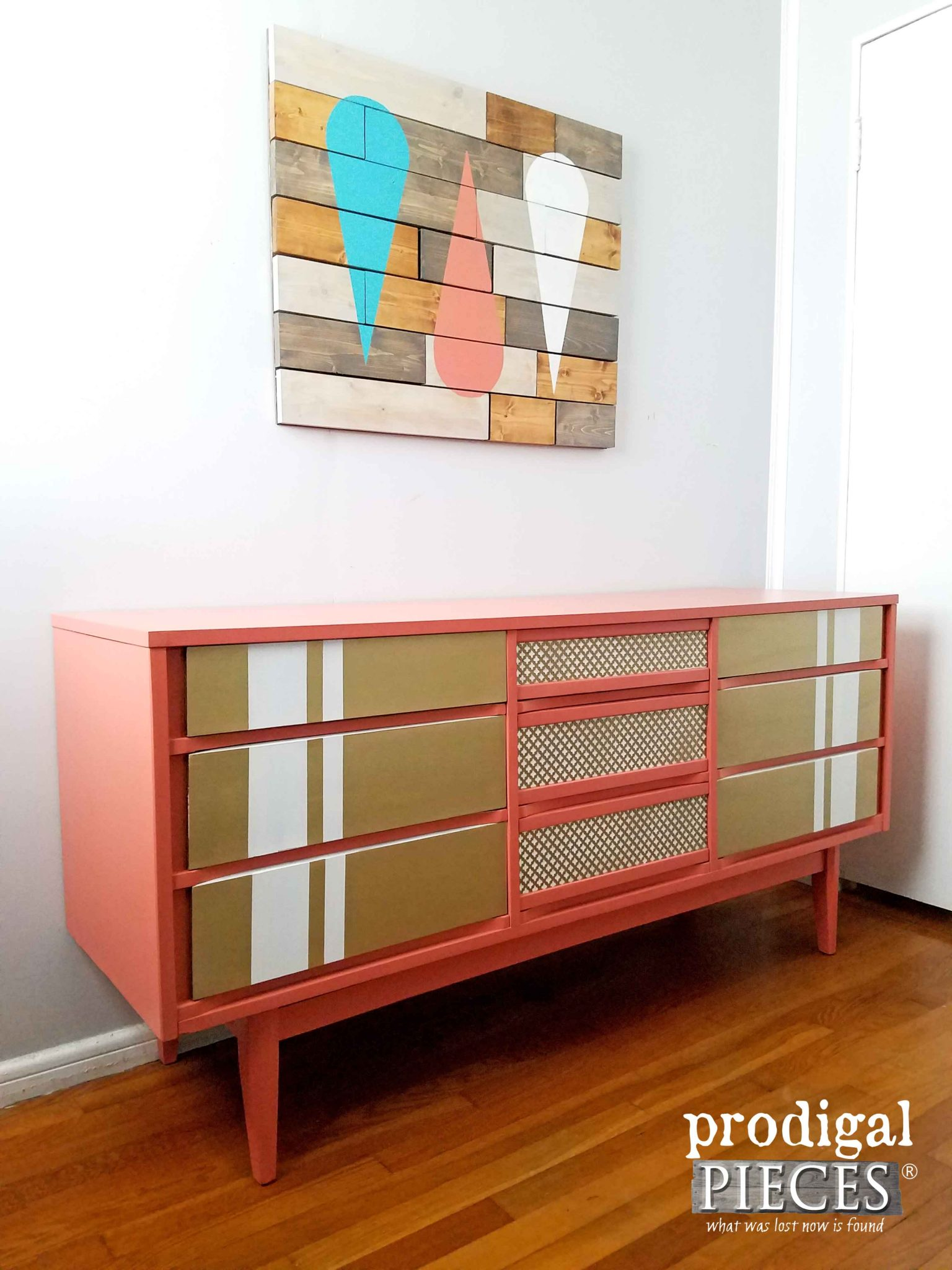 Vintage Mid Century Dresser Gets Modern Chic Makeover by Prodigal Pieces | prodigalpieces.com