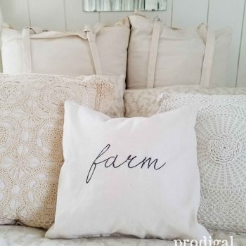 "Cream ""Farm"" Pillow"