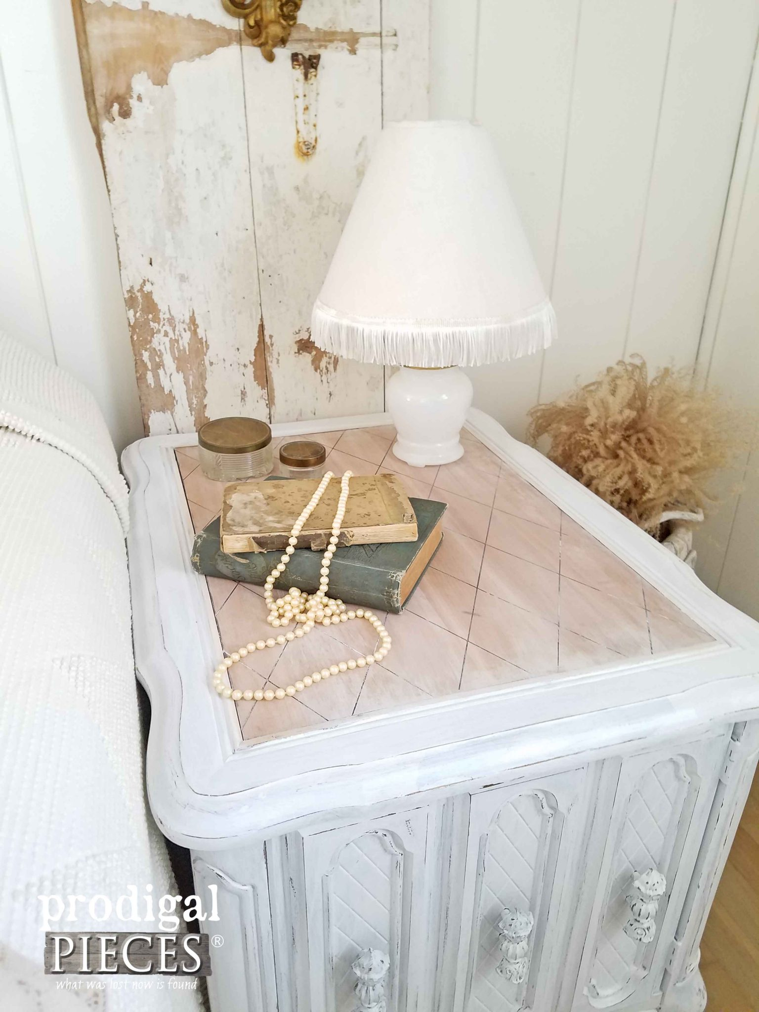 Cottage Chic Style Bedroom Nightstand by Prodigal Pieces | prodigalpieces.com