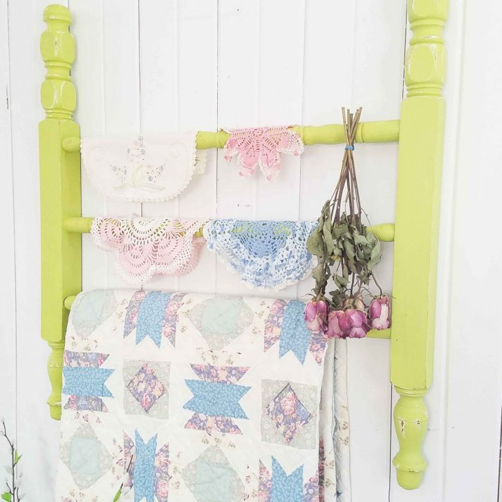 Cottage Style Quilt Rack from Repurposed Parts | prodigalpieces.com