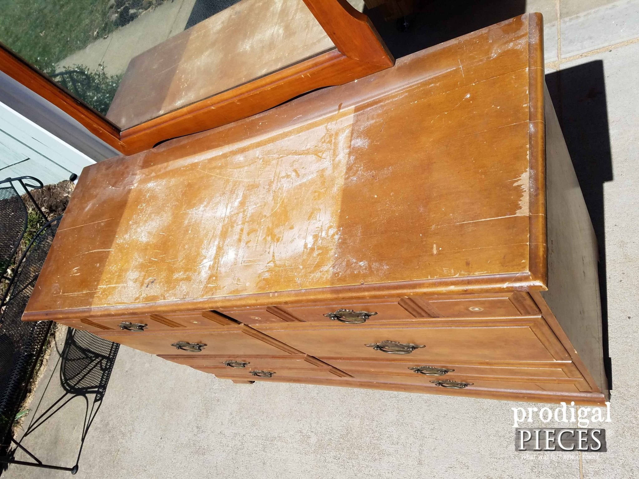 Damaged Dresser Top | Prodigal Pieces | prodigalpieces.com
