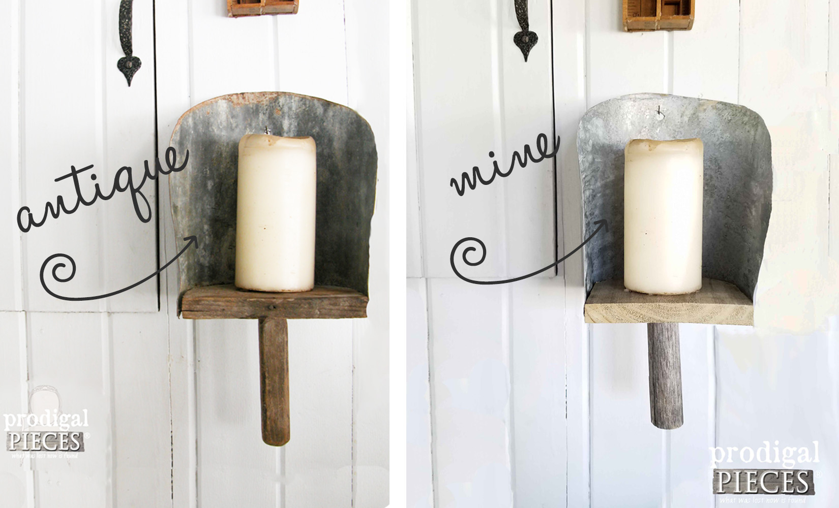 DIY Grain Scoop Sconce Comparison | Prodigal Pieces | prodigalpieces.com