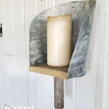 Repurposed Farmhouse Grain Scoop Sconce by Prodigal Pieces | prodigalpieces.com