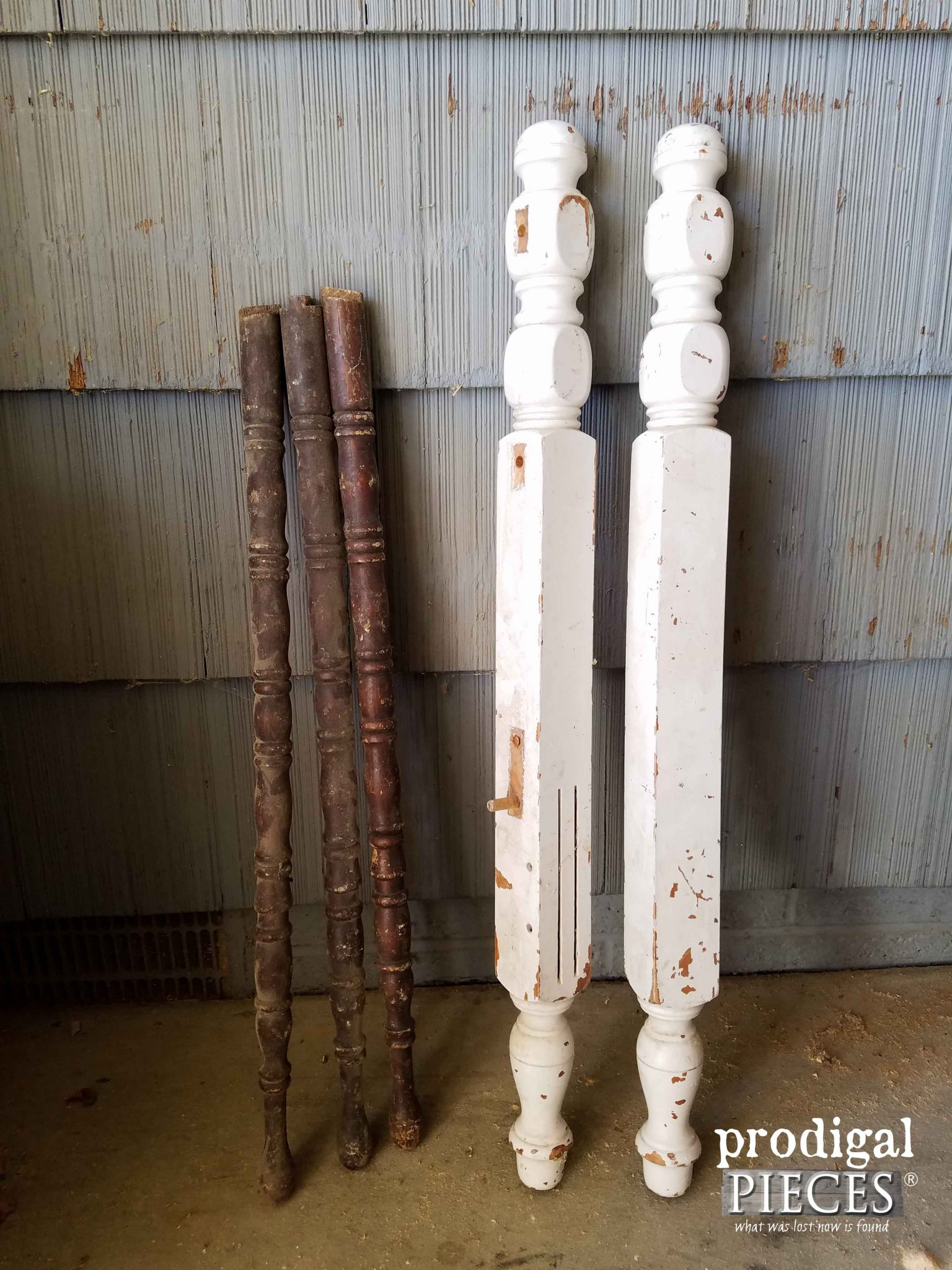 Repurposed Parts from Table and Bed | Prodigal Pieces | prodigalpieces.com