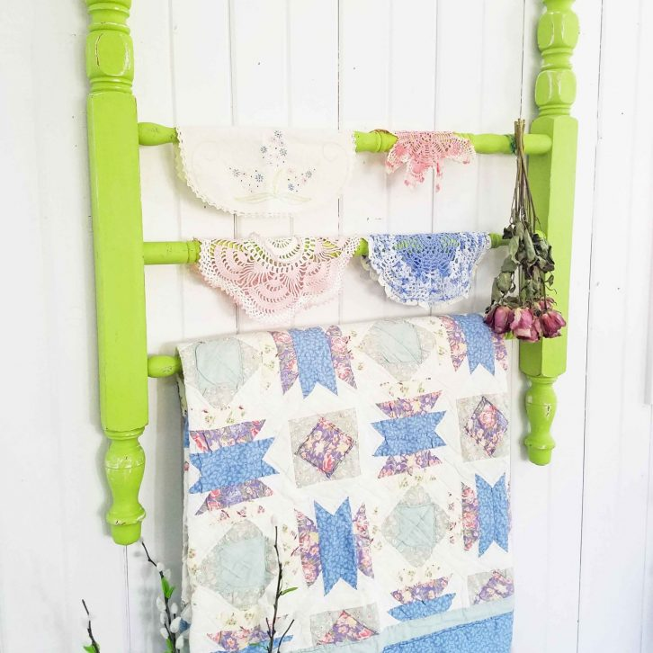 DIY Quilt Rack from Reclaimed Parts by Prodigal Pieces | prodigalpieces.com