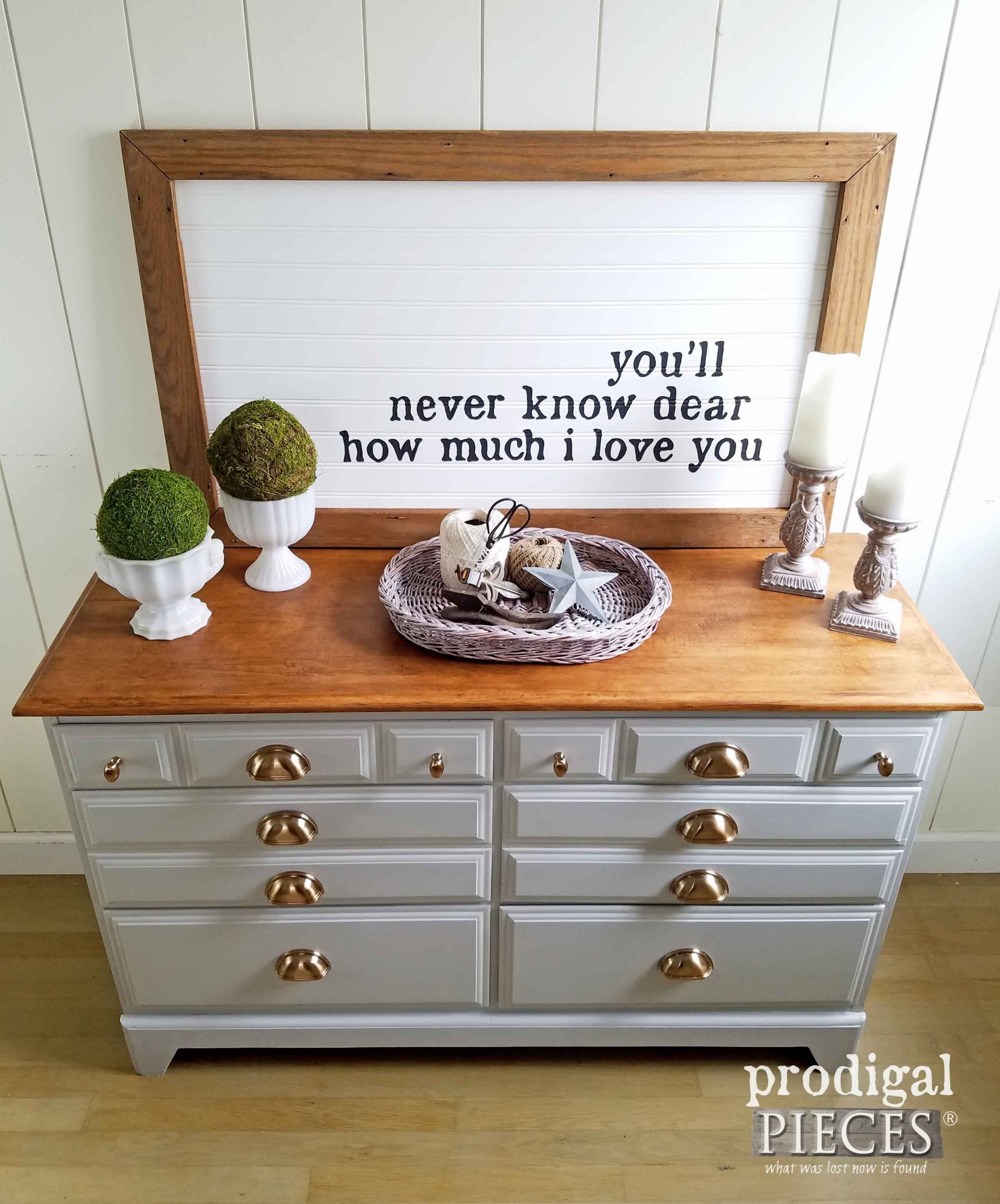 Top View of Updated Dresser by Prodigal Pieces | prodigalpieces.com