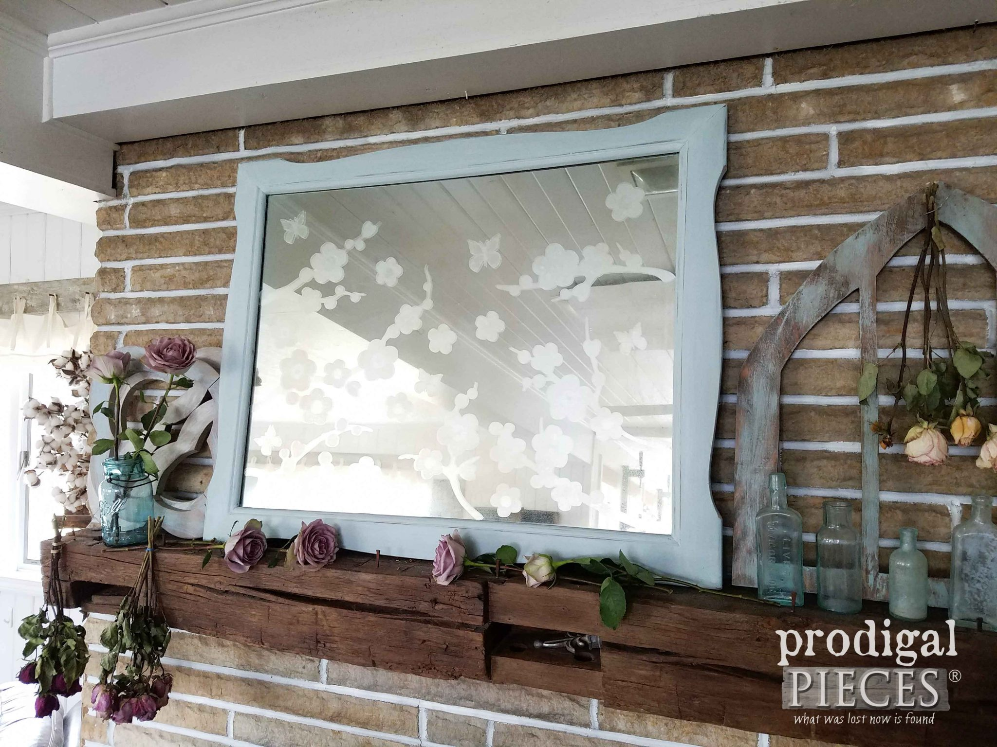 Vintage Dresser Mirror Upcyled by Prodigal Pieces | prodigalpieces.com