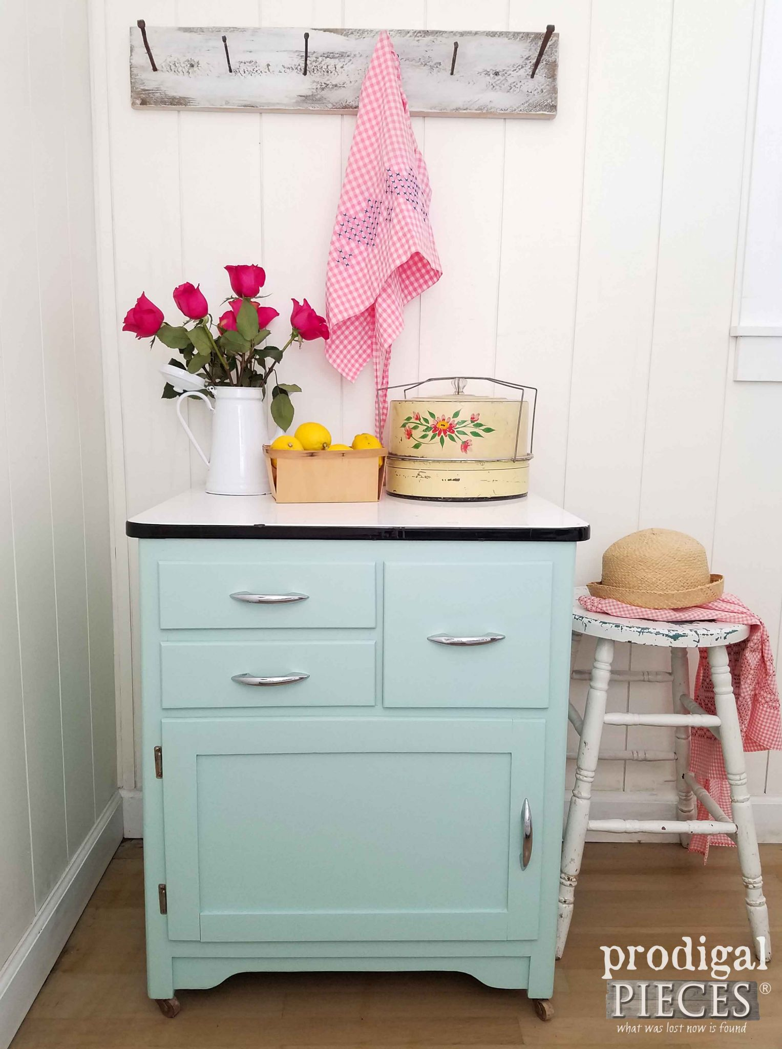 Enamel Cabinet Makeover ~ Cottage Style - Prodigal Pieces