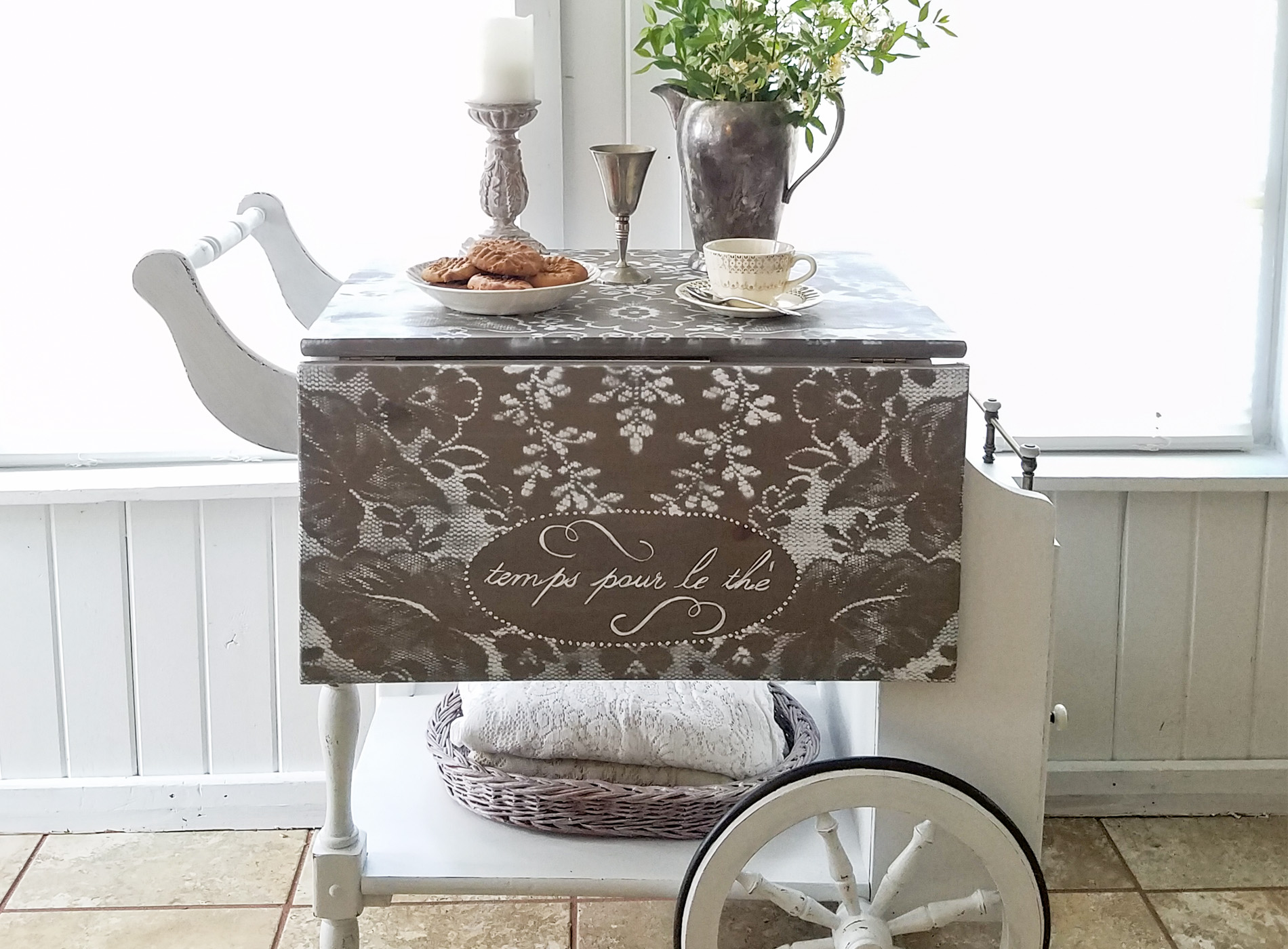 Featured Tea Cart Refreshed by Prodigal Pieces | prodigalpieces.com