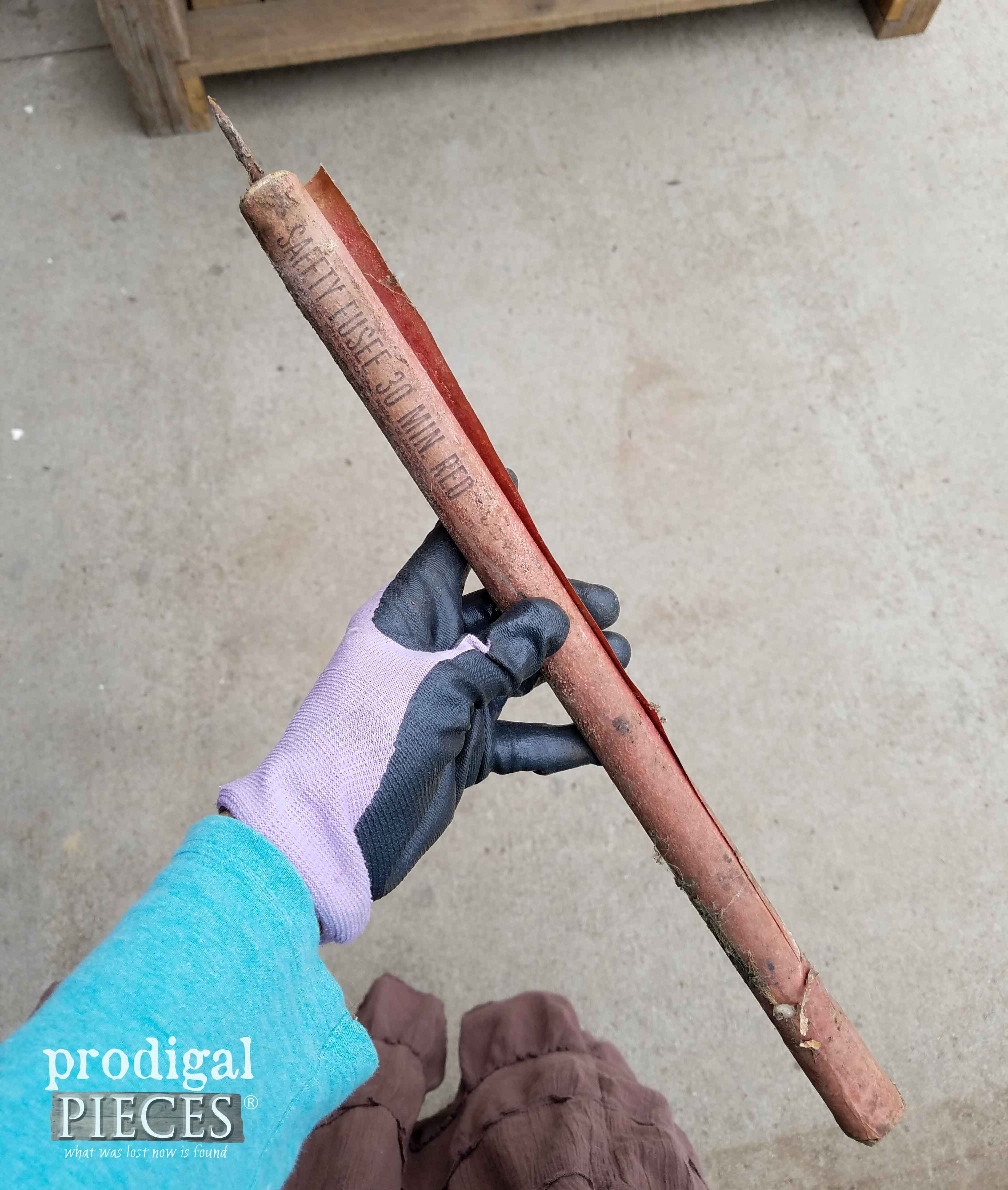 HUGE flare found inside trashure workbench | Prodigal Pieces | prodigalpieces.com