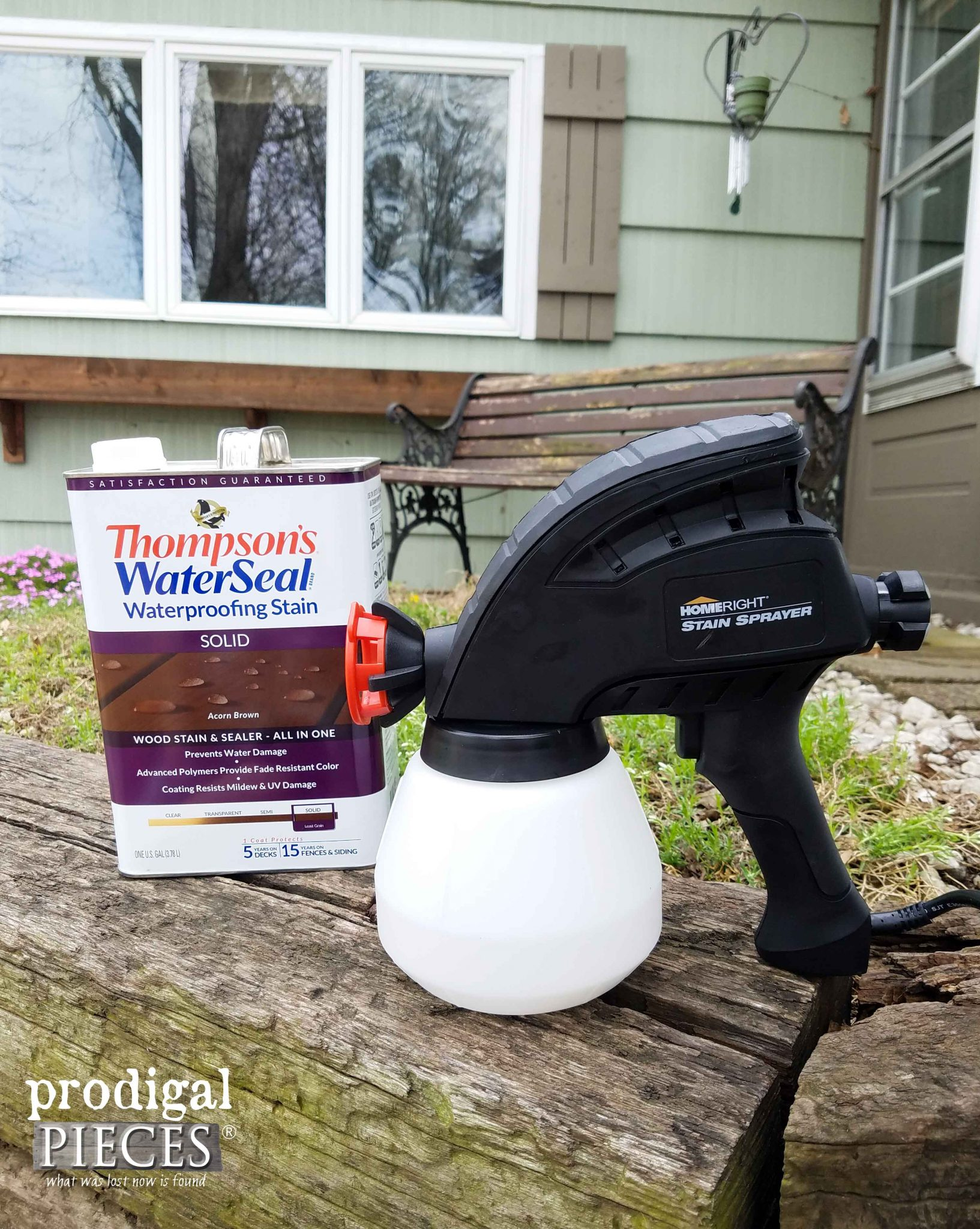 Thompson's WaterSeal and HomeRight Stain Sprayer for Planter Finish | Prodigal Pieces | prodigalpieces.com