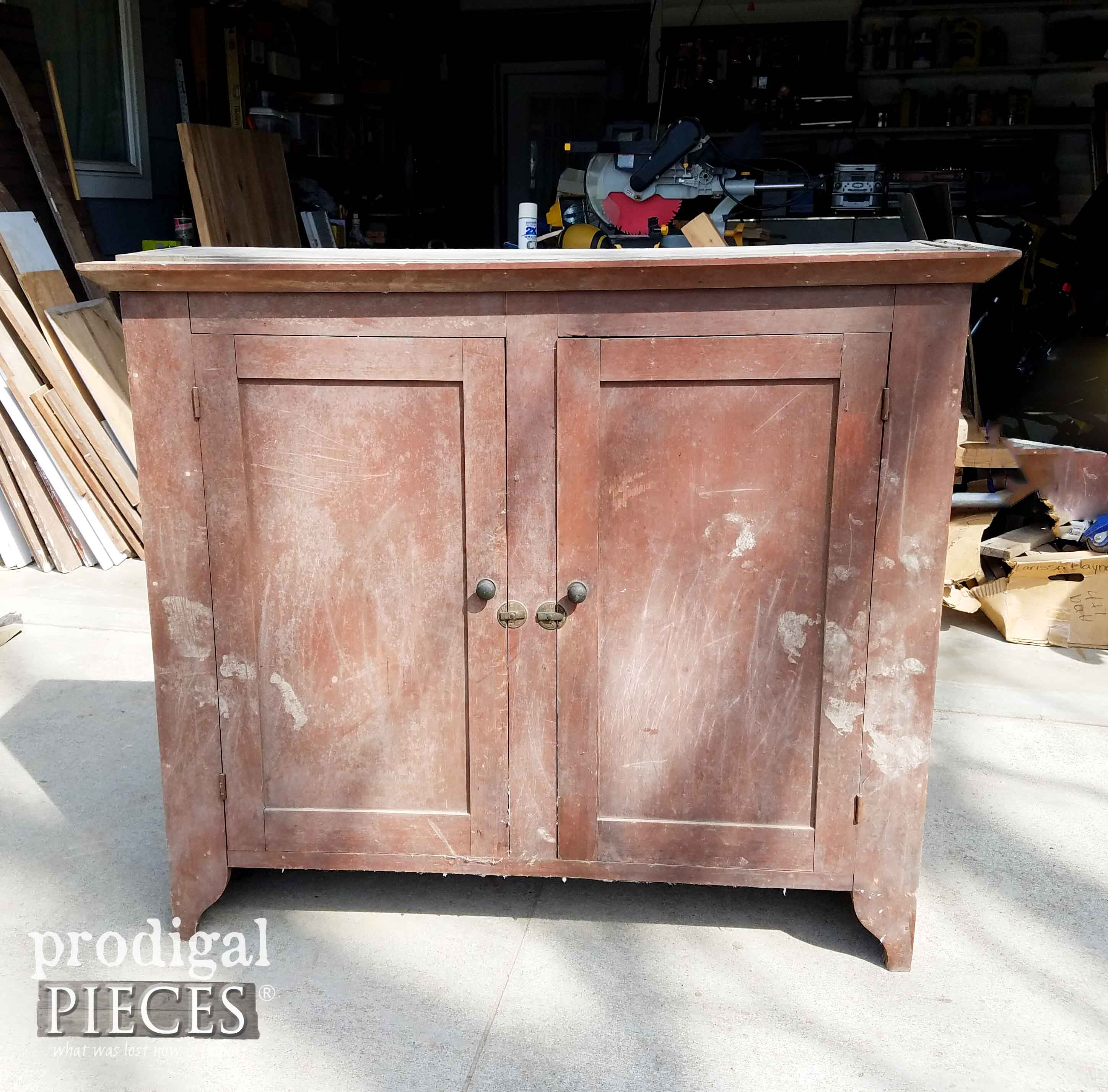 Antique Hutch Before | Prodigal Pieces | prodigalpieces.com