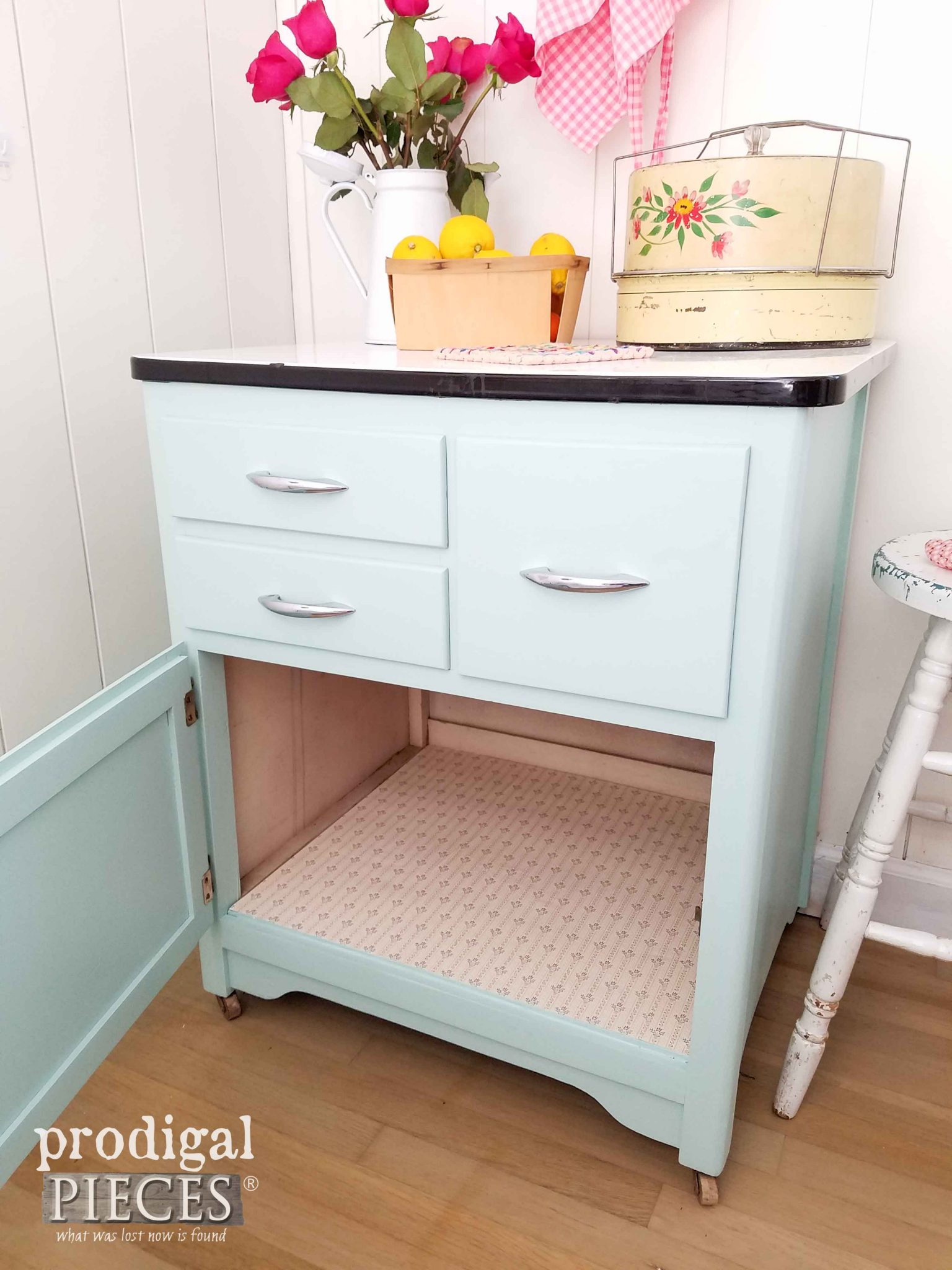 Inside Cottage Style Cabinet by Prodigal Pieces | prodigalpieces.com