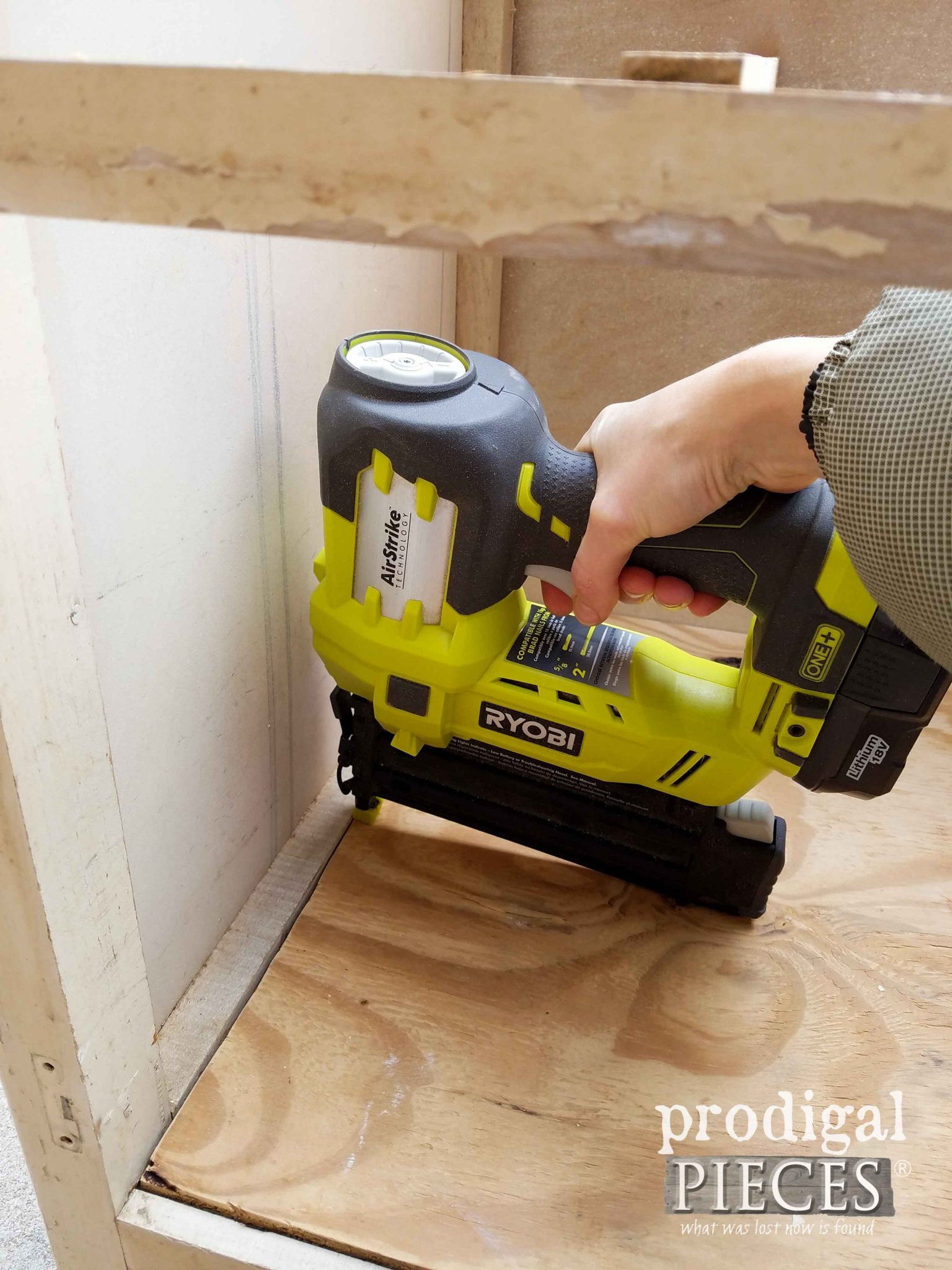 Ryobi AirStrike to Repair Cabinet | Prodigal Pieces | prodigalpieces.com