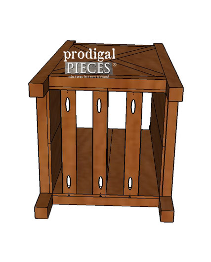 Bottom View of Farmhouse Planter | Prodigal Pieces | prodigalpieces.com