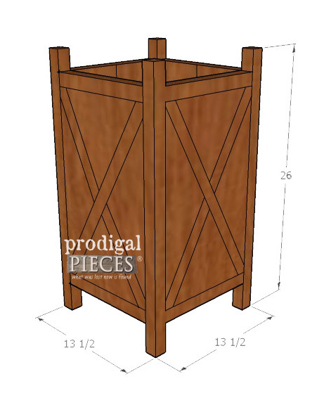Dimensions for DIY Planter ~ Added Curb Appeal | Prodigal Pieces | prodigalpieces.com