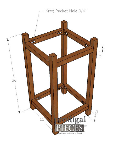 DIY Planter Frame Layout by Prodigal Pieces | prodigalpieces.com