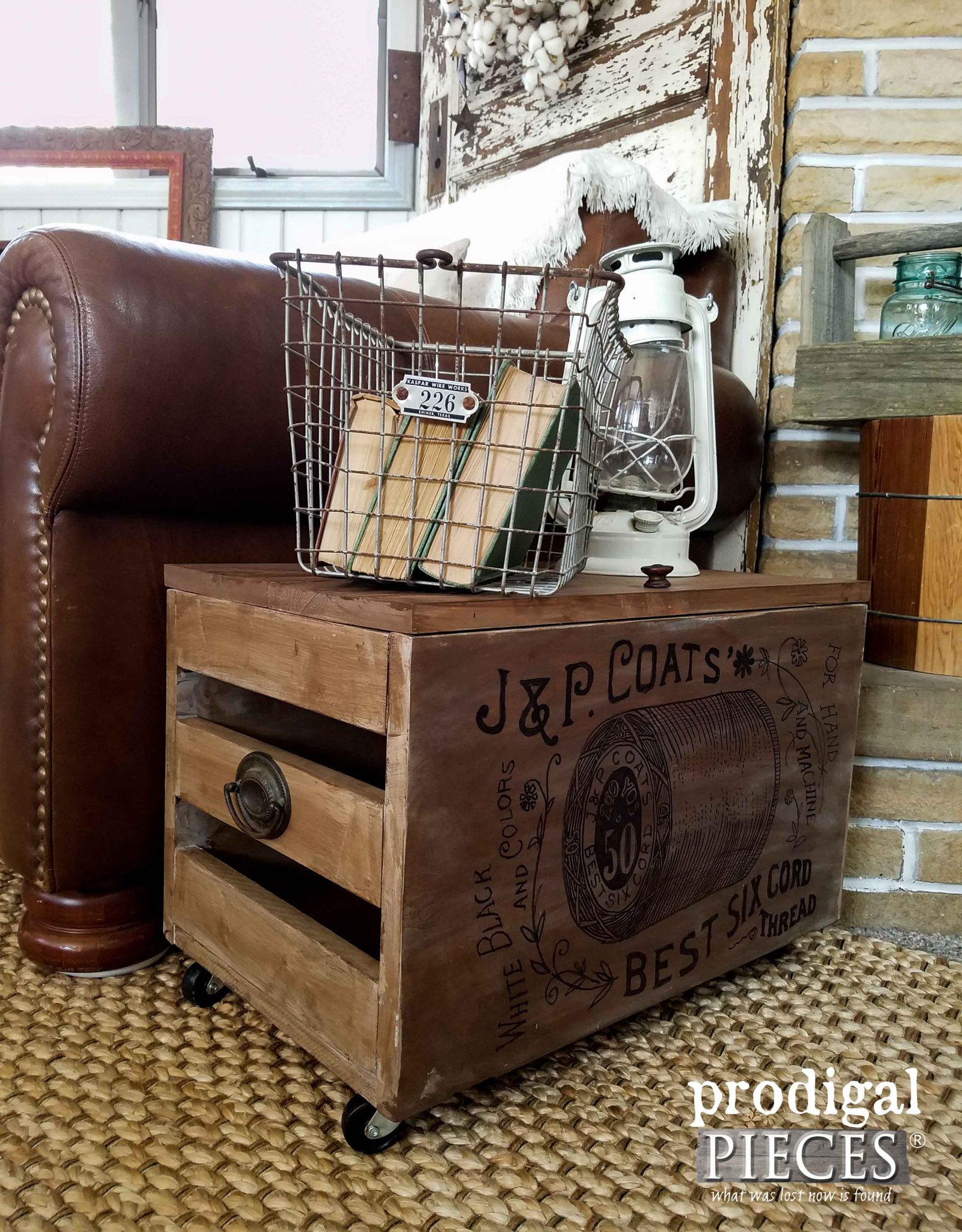 Industrial Stlyle Crate Made from Reclaimed Cabinet Doors by Prodigal Pieces | prodigalpieces.com