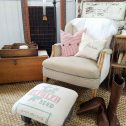 Rustic Farmhouse Footstool available at Prodigal Pieces | prodigalpieces.com