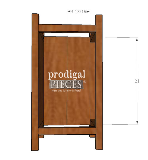Side Panel 2 of Planter Plans | Prodigal Pieces | prodigalpieces.com