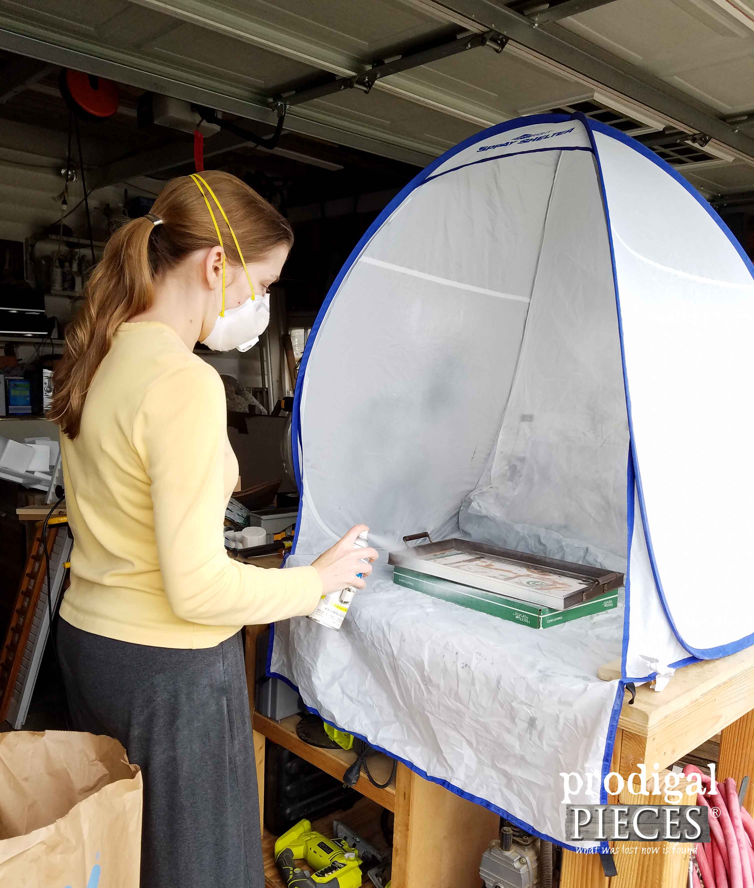 Small Spray Shelter by HomeRight for Home Decor Projects by Prodigal Pieces | prodigalpieces.com