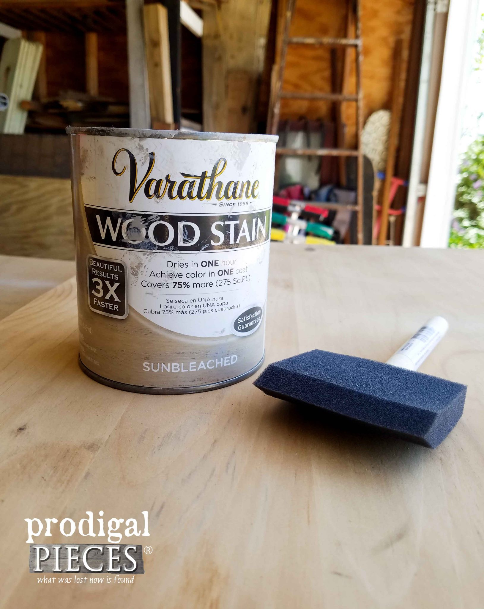 Sunbleached Stain by RustOleum for Cart | Prodigal Pieces | prodigalpieces.com