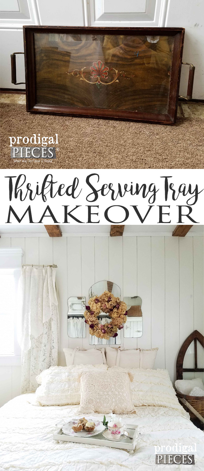 Make your house your home on a budget. Check out this thrifted tray makeover by Prodigal Pieces | prodigalpieces.com
