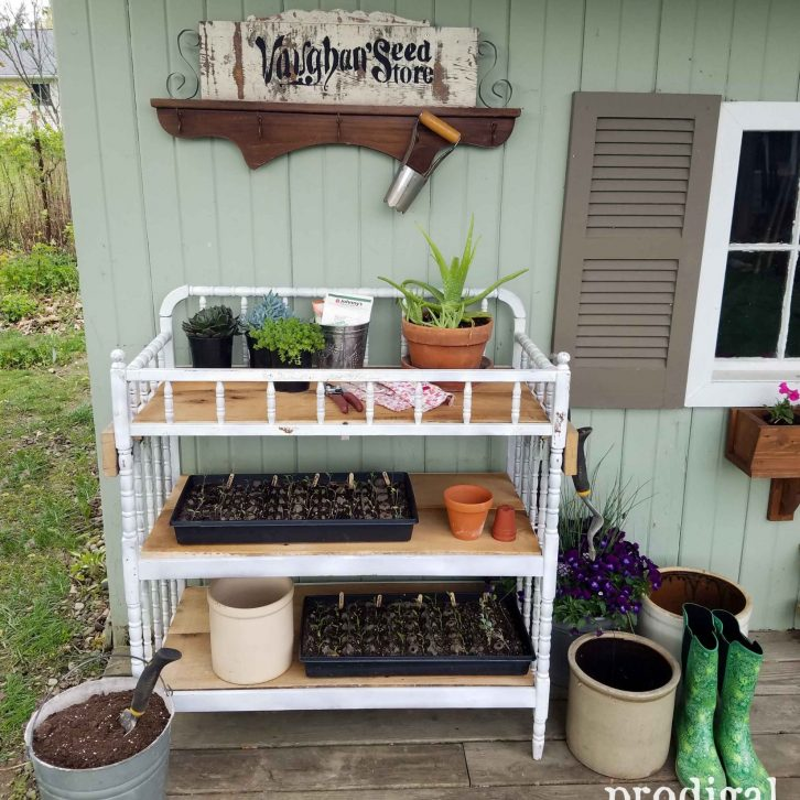 Upcycled Changing Table into Potting Bench by Prodigal Pieces | prodigalpieces.com