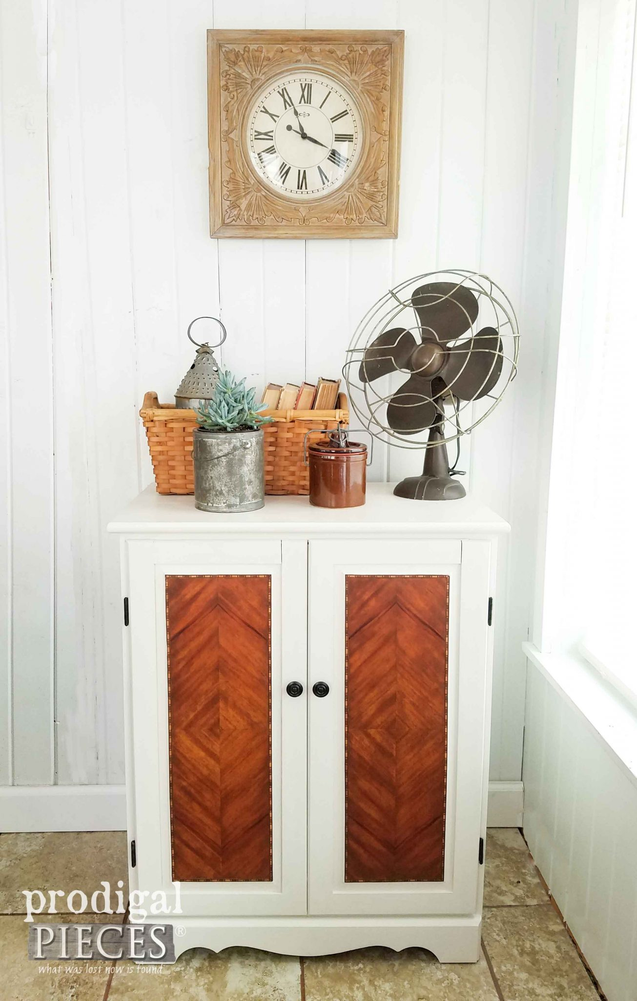 Cabinet Makeover with a Farmhouse Chic Twist by Prodigal Pieces | prodigalpieces.com