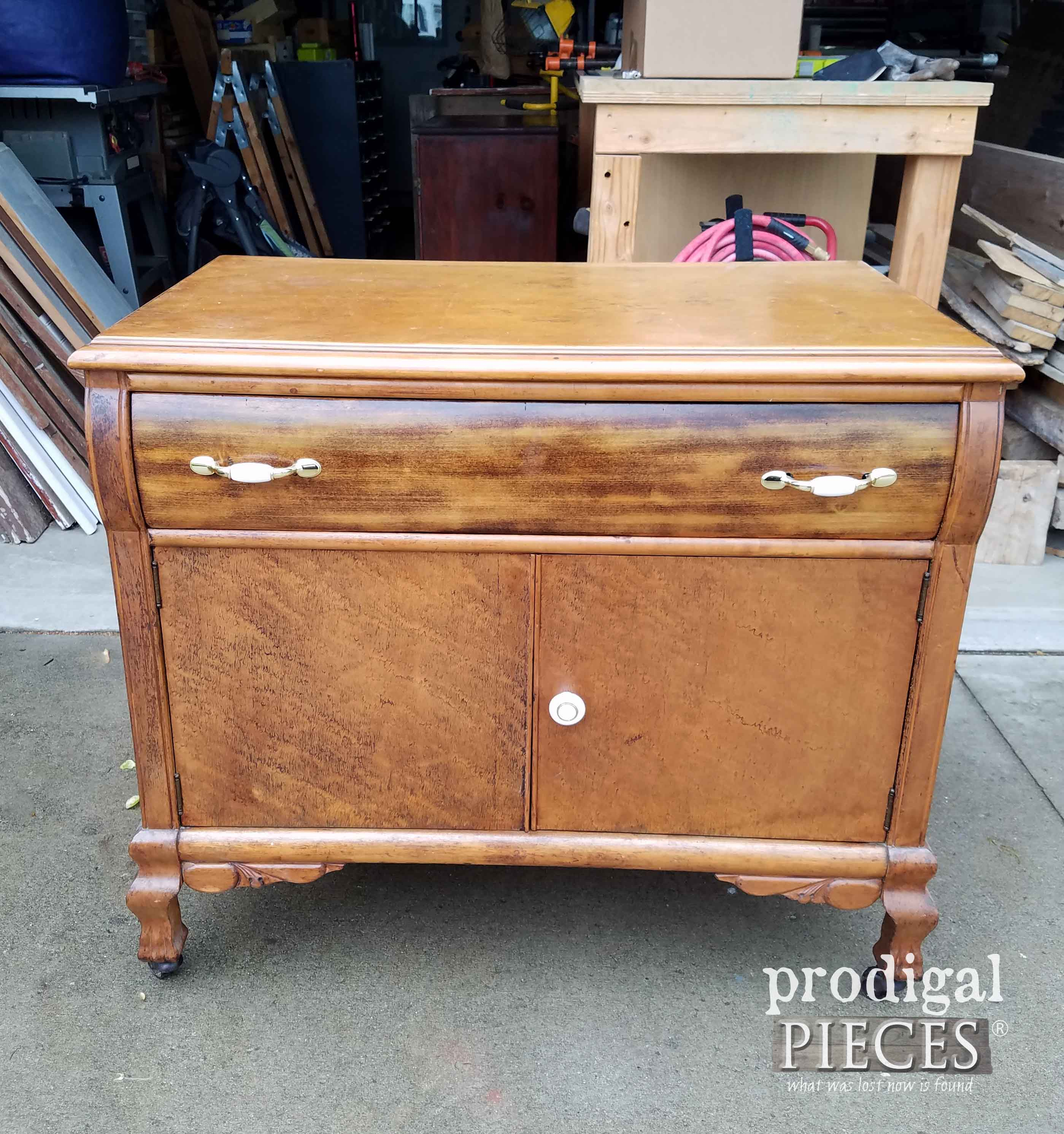 Vintage Chest Before Makeover | Prodigal Pieces | prodigalpieces.com