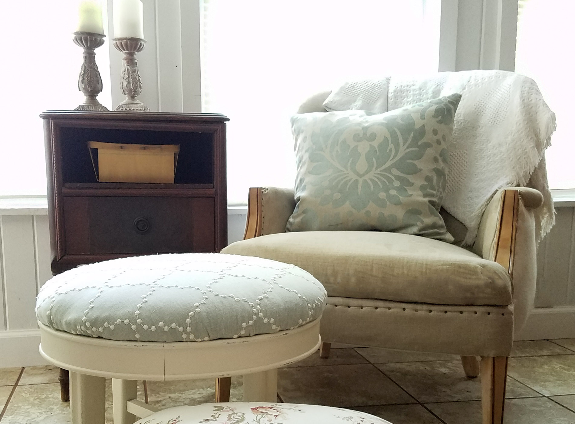 Featured Upholstered Footstools by Prodigal Pieces | prodigalpieces.com