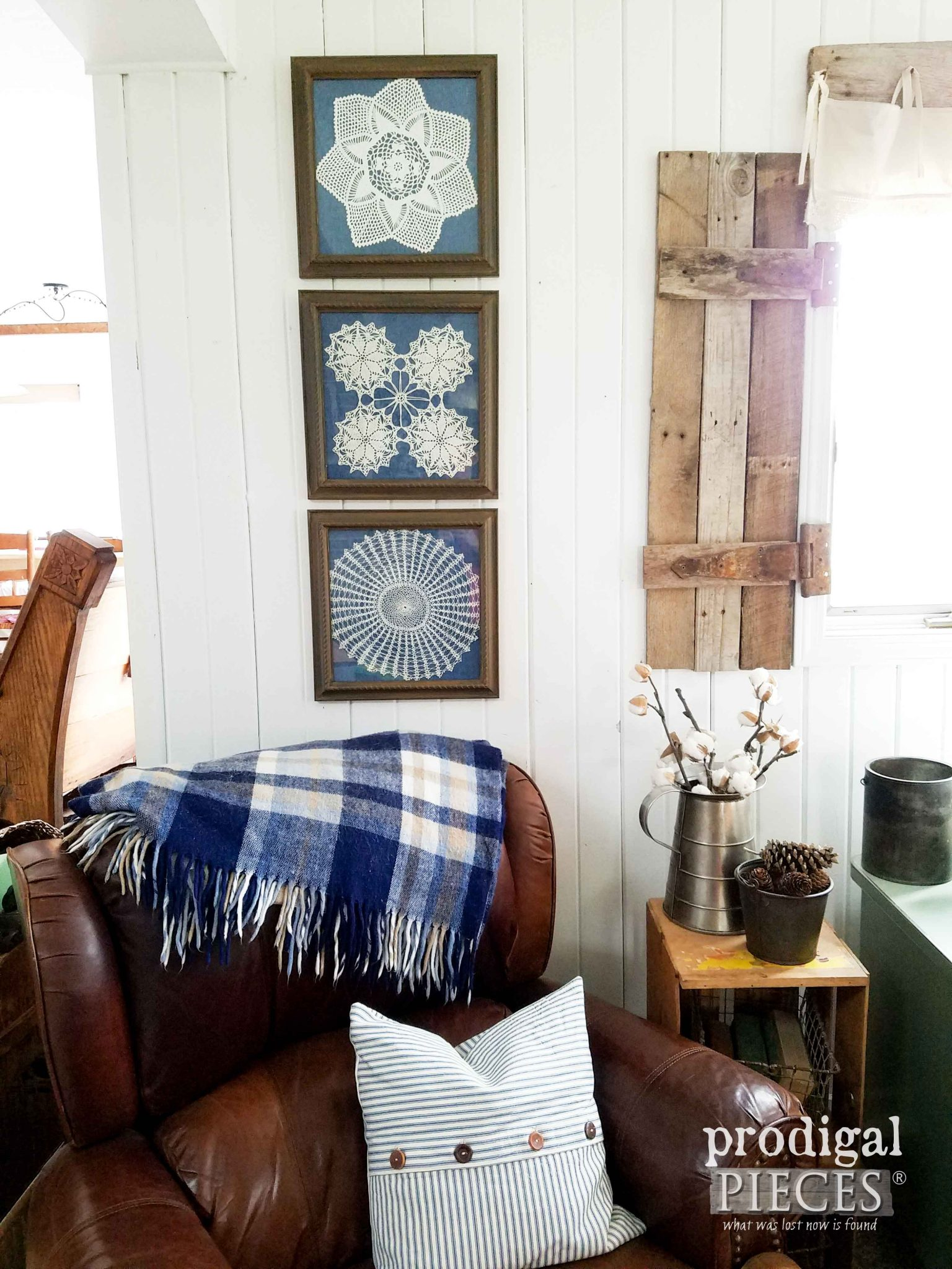Framed Doily Wall Art from Curbside Finds by Prodigal Pieces | prodigalpieces.com