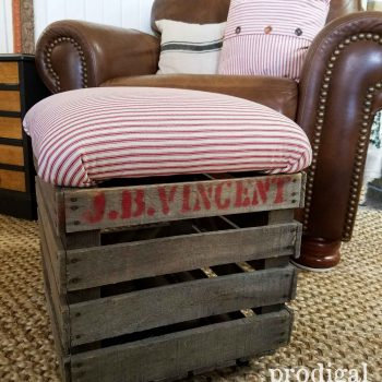 Repurposed Crate Foostool | Prodigal Pieces | prodigalpieces.com
