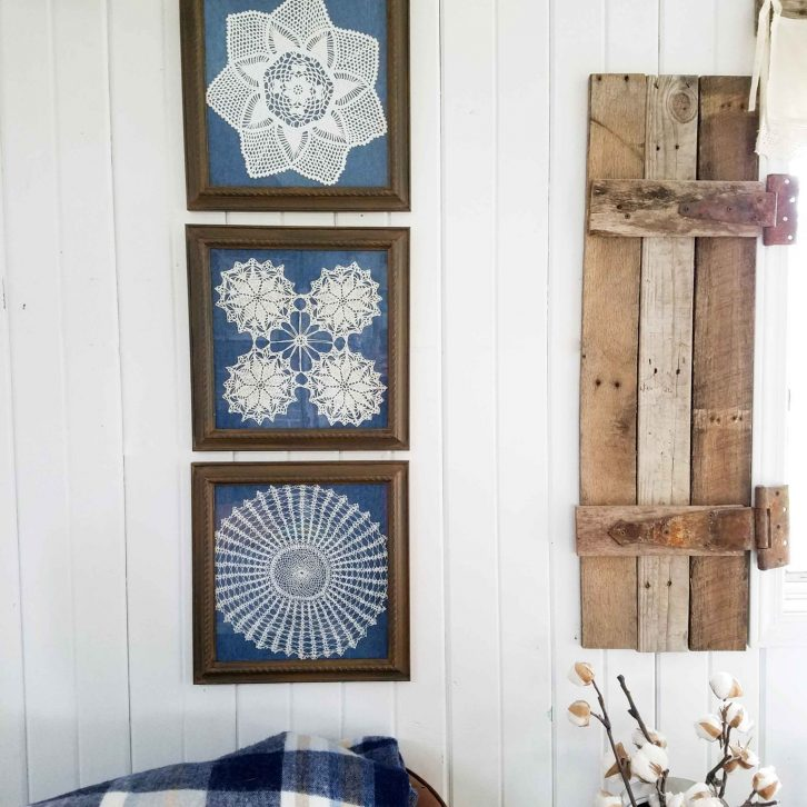 Framed Doily Wall Art available at Prodigal Pieces | prodigalpieces.com
