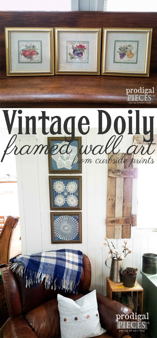 Get out your grandma's old doilies and create some fantastic framed doily art using thrifted finds. Tutorial by Prodigal Pieces | prodigalpieces.com