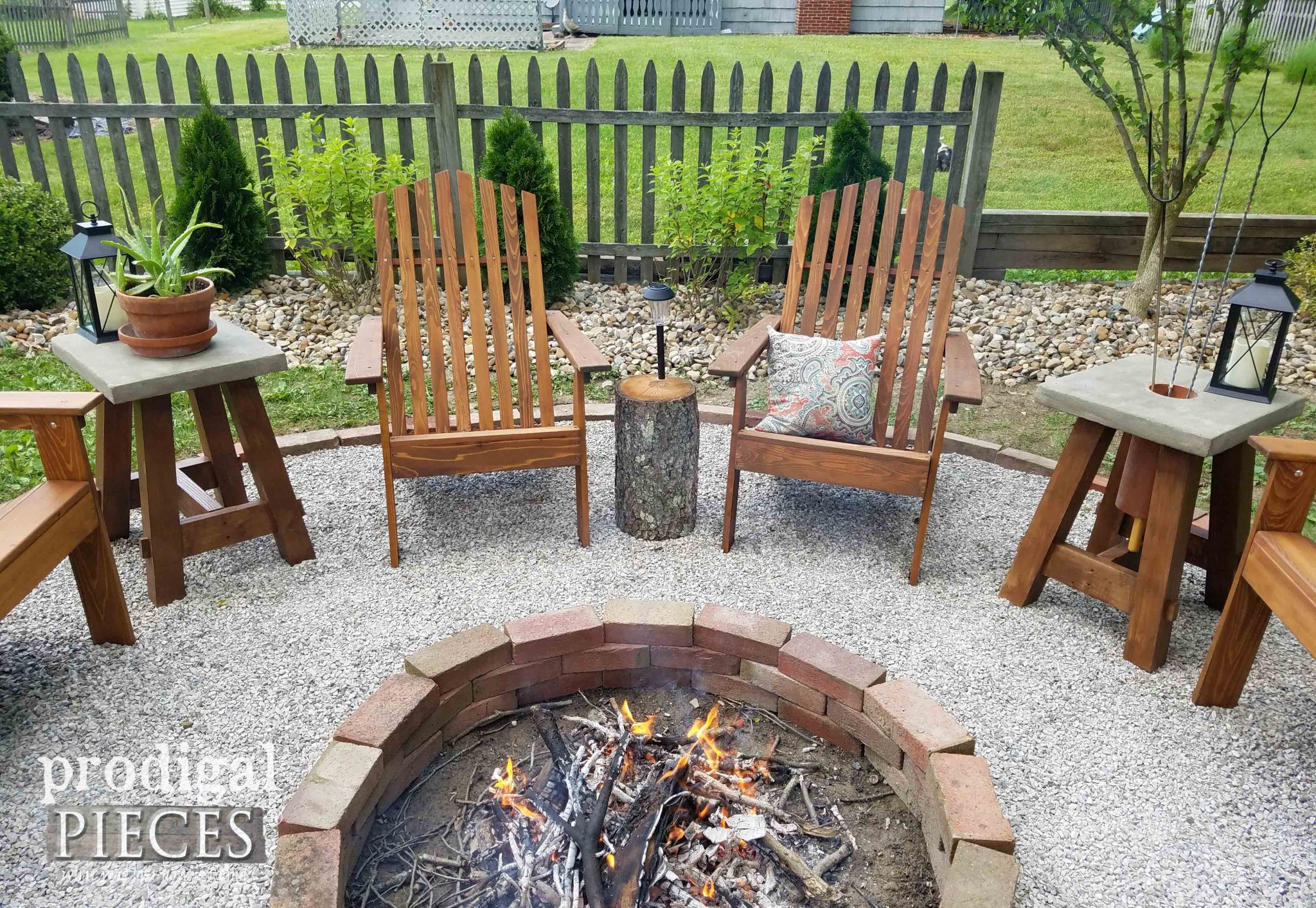 Adirondack Chairs by DFOHome for DIY Fire Pit by Prodigal Pieces | prodigalpieces.com
