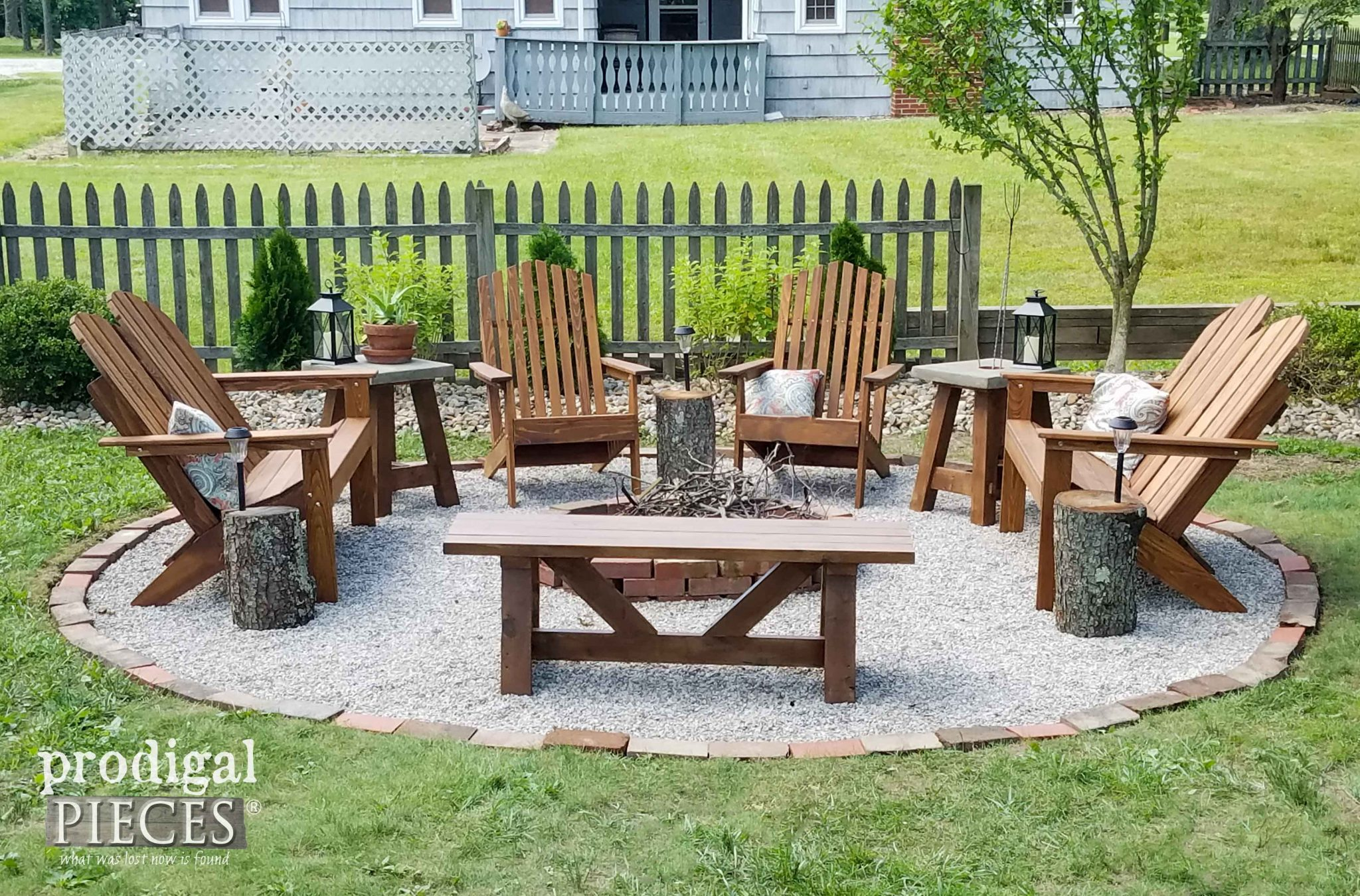 Backyard Fire Pit With Tutorial By Prodigal Pieces | Prodigalpieces.com