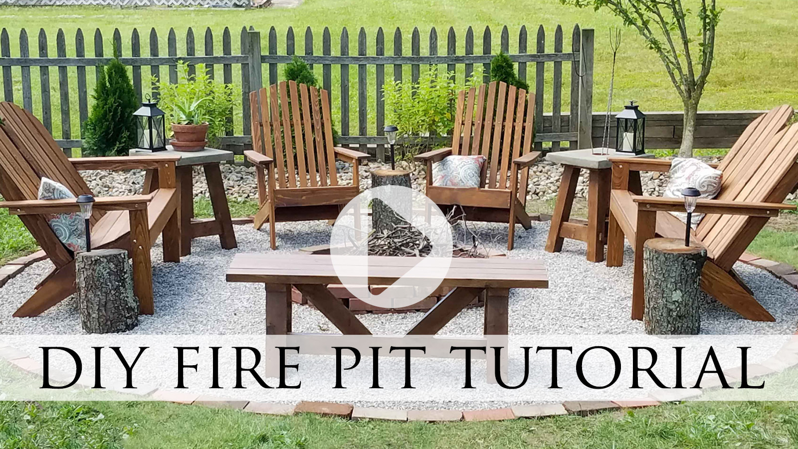 Video Tutorial for DIY Fire Pit by Larissa of Prodigal Pieces & Family | prodigalpieces.com #prodigalpieces