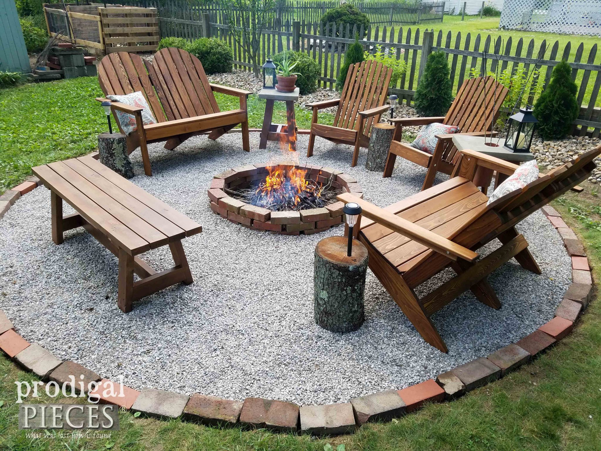 How to Build a DIY Fire Pit in a Day by Prodigal Pieces | prodigalpieces.com