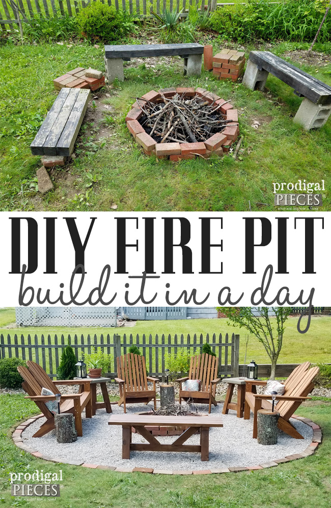 Make your outdoor space inviting, safe, and cozy with this DIY Fire Pit tutorial with video by Prodigal Pieces | prodigalpieces.com