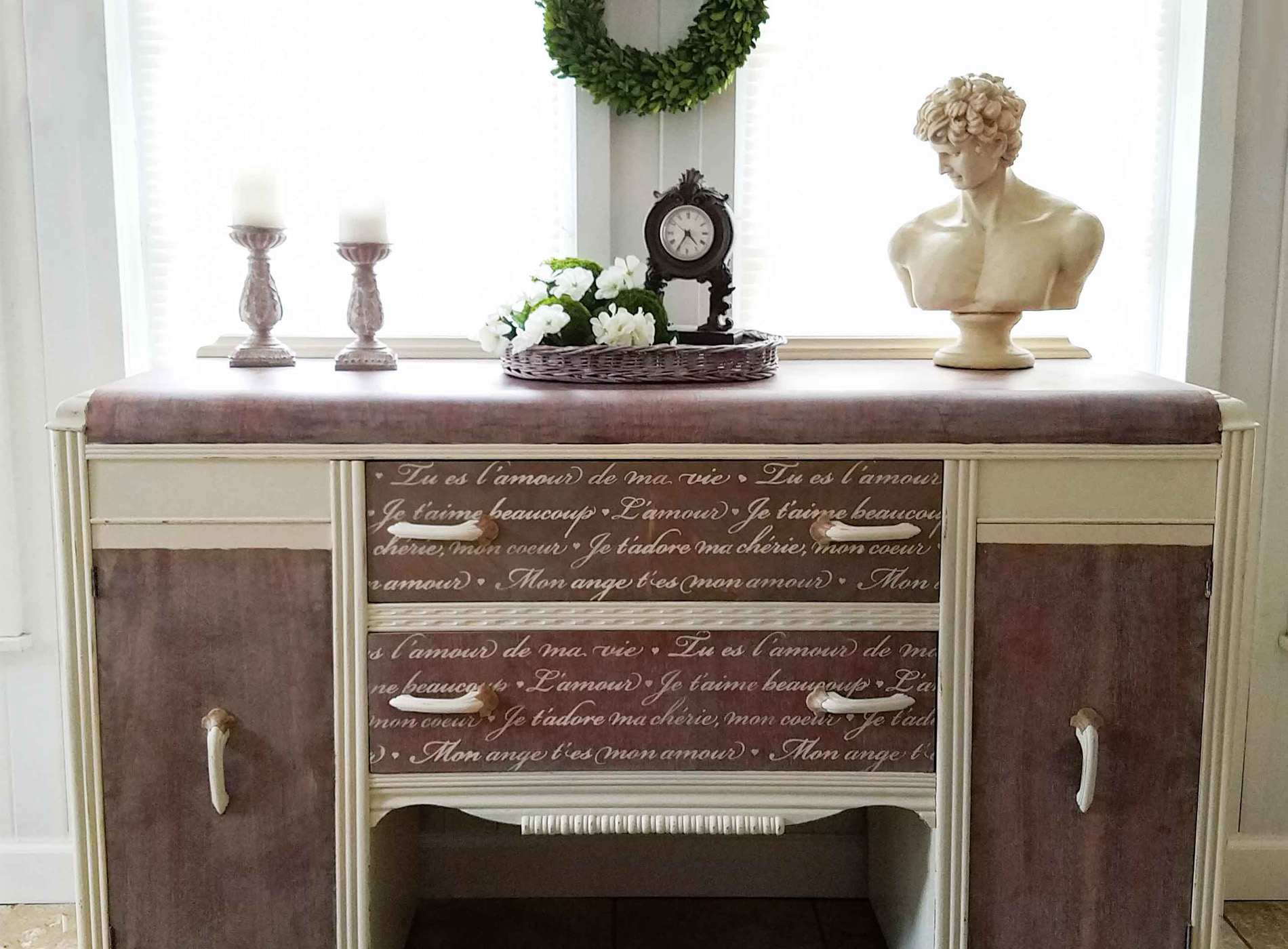 Featured French Waterfall Buffet Makeover by Prodigal Pieces | prodigalpieces.com
