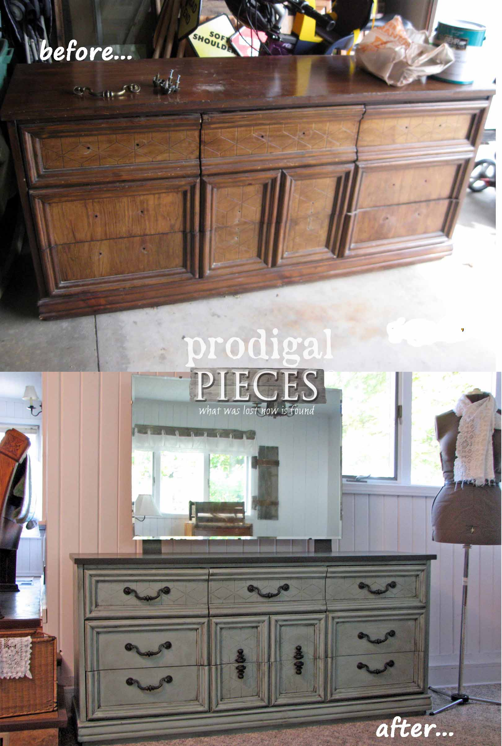 Prodigal Pieces First Dresser Makeover | prodigalpieces.com
